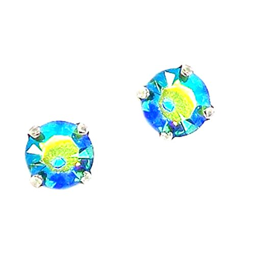 Mariana Antique Silver Plated Swarovski Crystal Stud Earrings