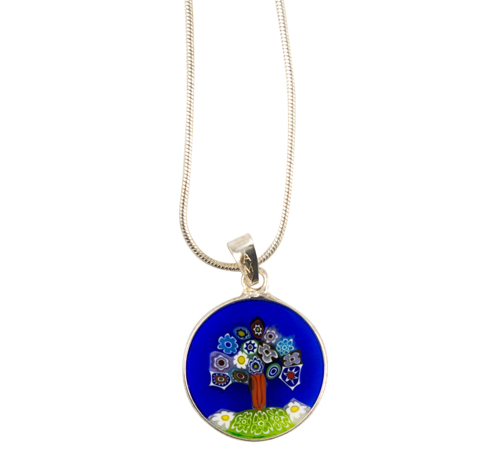Murano Millefiori Tree of Life necklace
