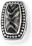 Bonn Bons Sterling Silver Gold Zebra Slide Charm - Kenya Dig It