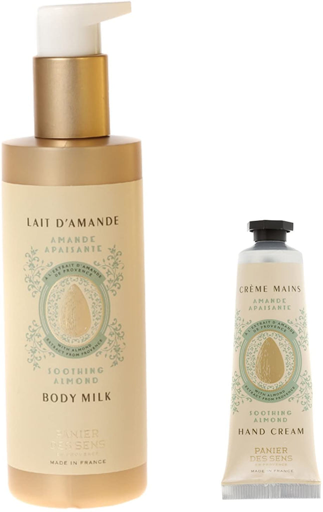 Panier Des Sens Natural Essential Oils Body Milk and Hand Cream Set - Sweet Almond