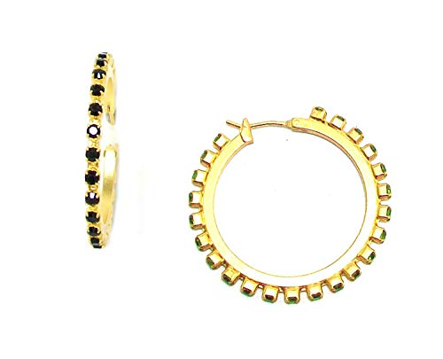 Mariana Gold Plated Swarovski Crystal Hoop Earrings - 1435/3 280