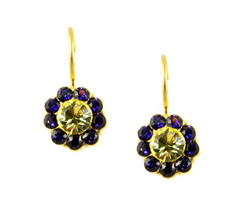Mariana Gold Plated Swarovski Crystal Flower Drop Earrings (Hope) - 1379 1032