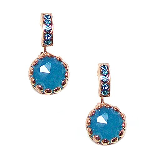 Mariana Rose Gold Plated Swarovski Crystal Prong Set Drop Earrings - 1160 M3322