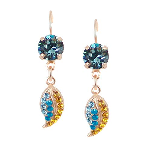 Mariana Gold Plated Swarovski Crystal Drop Leaf Earrings (Jasmine) - 1143 1323