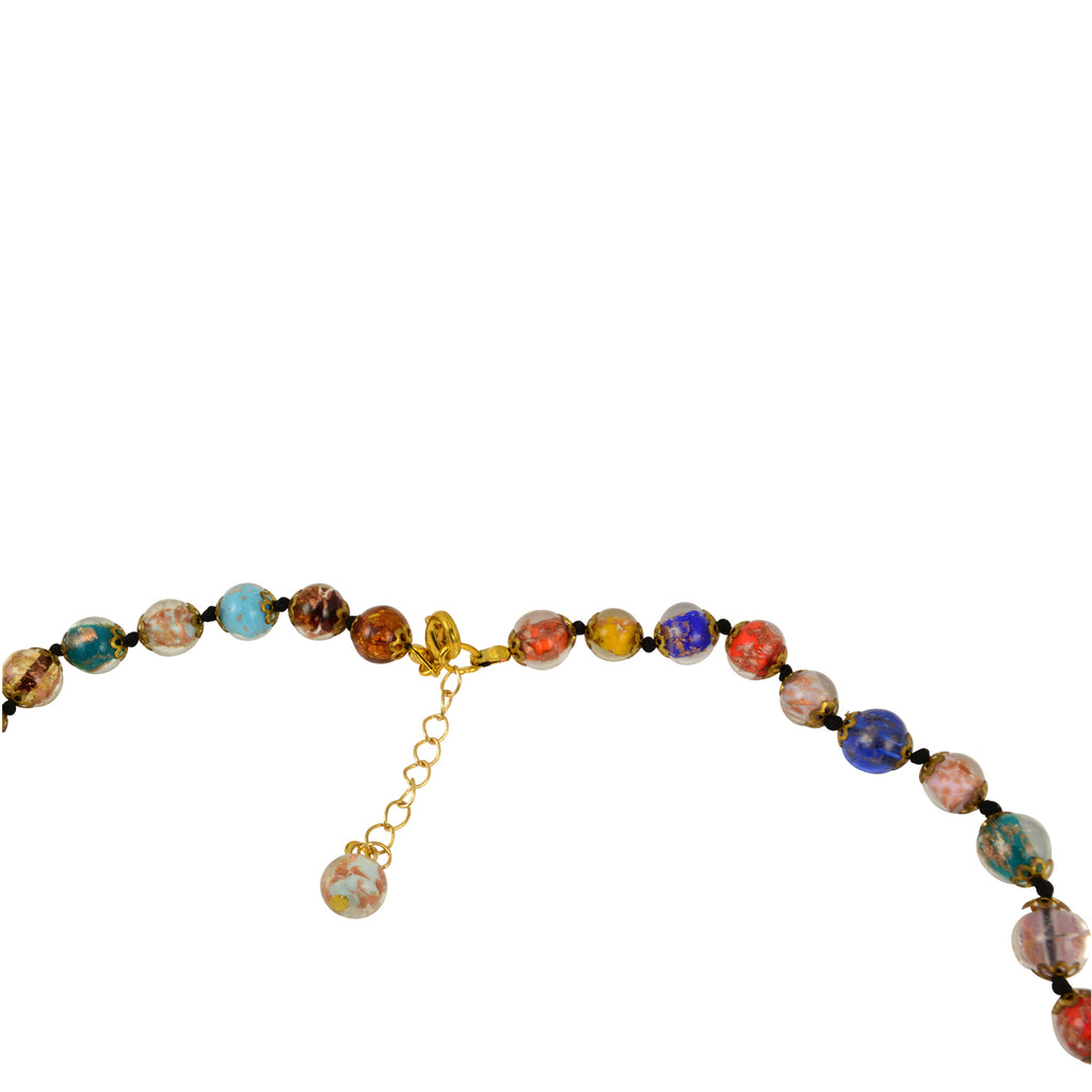 "Just Give Me Jewels Genuine Venice Murano Sommerso Aventurina Glass Bead Long Strand Necklace in Multi-Color, 26+2"" Extender"