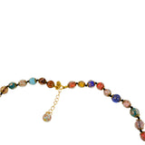Just Give Me Jewels Genuine Venice Murano Sommerso Aventurina Glass Bead Long Strand Necklace in Multi-Color, 26+2