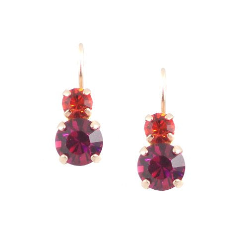 Mariana Matte Rose Gold Plated Swarovski Crystal Drop Earrings (Angelina) -1190 3250