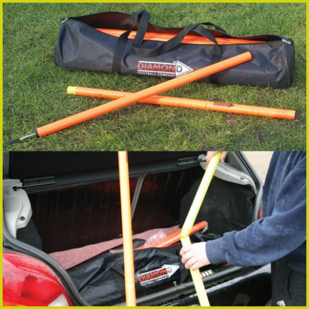 Diamond 2 Piece Boundary Slalom Pole Set