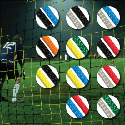 Diamond Senior Striped Football Goal Nets