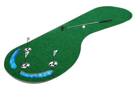 Three-Hole Golf Putting Mat - 3 x 9 ft