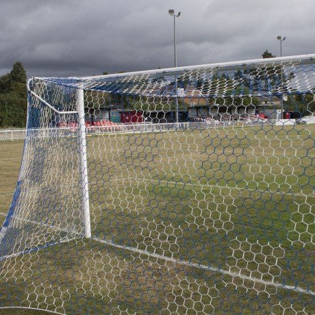 Chequered Senior 24ft x 8ft Football Goal Nets - Sportnetting