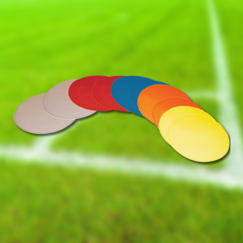 Football Flat Markers - Diamond | Round | Pack of 10 - Sportnetting