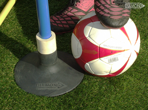 Diamond Weighted Football Pole Base - For all Slalom Poles - Sportnetting