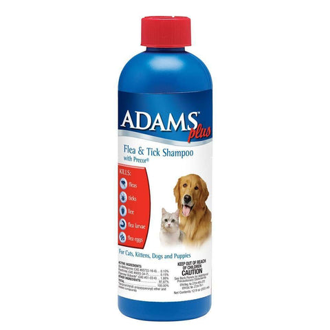 Adams Plus Flea & Tick Shampoo with Precor 12 oz