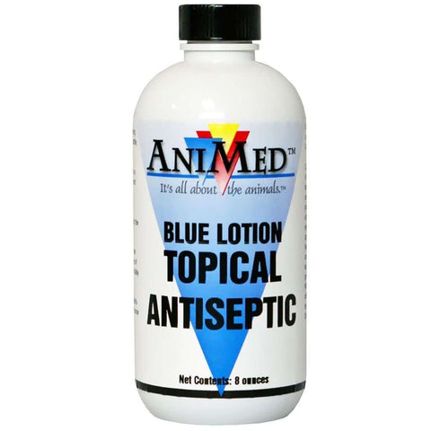 AniMed Blue Lotion Topical Antiseptic 8 oz