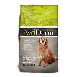 AvoDerm Natural Senior Chicken Meal and Brown Rice Formula Dry Dog Food