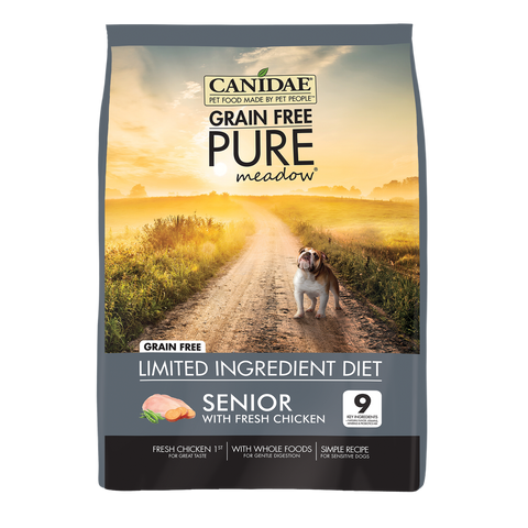 Canidae Grain Free PURE Meadow with Chicken Senior Formula Dry Dog Food