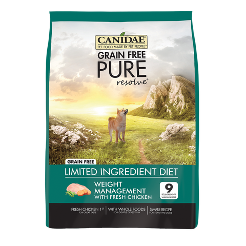 Canidae Grain Free PURE Resolve with Chicken Adult Weight Management Formula Dry Dog Food