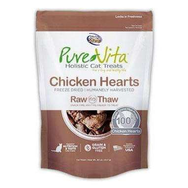 PureVita Grain Free Freeze Dried Chicken Hearts Delights Holistic Cat Treats