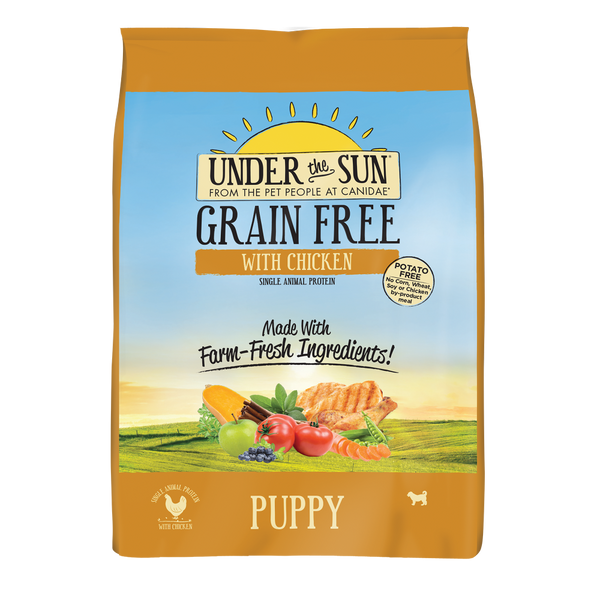 Under the Sun Grain Free Chicken Puppy Recipe Dry Dog Food