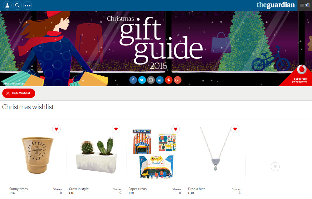 The Guardian Interactive Gift Guide December 2016