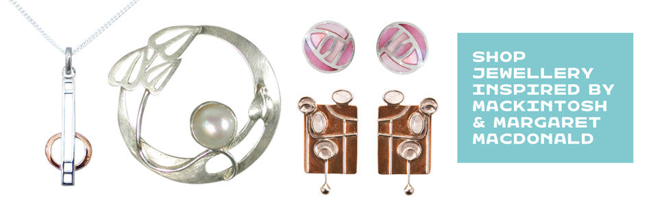 Jewellery inspired by Charles Rennie Mackintosh and Margaret Macdonald