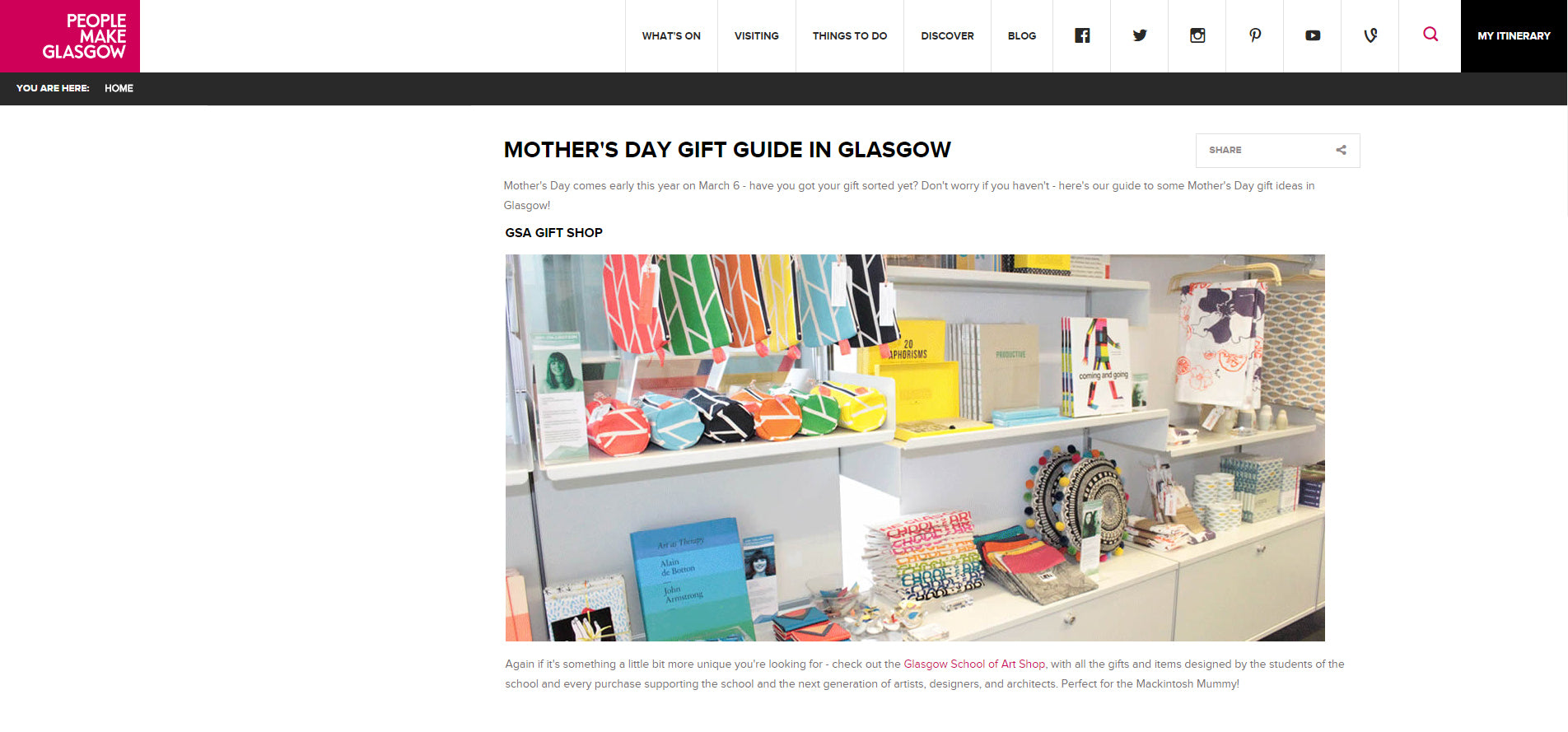 People Make Glasgow - Mother's Day gift guide