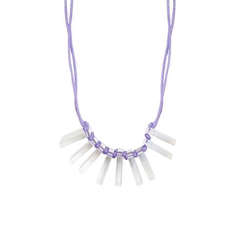 Acrylic cord necklace - lilac
