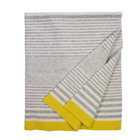 Baby blanket - grey stripe