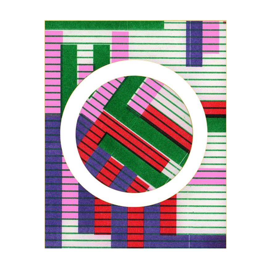 Risograph badge - stripes