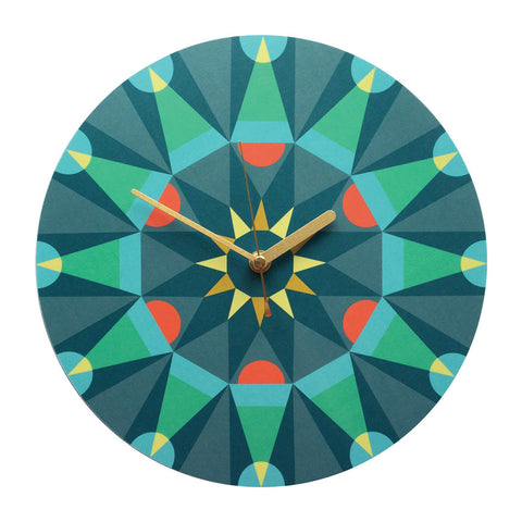 Big Time Kaleidoscope clock - green