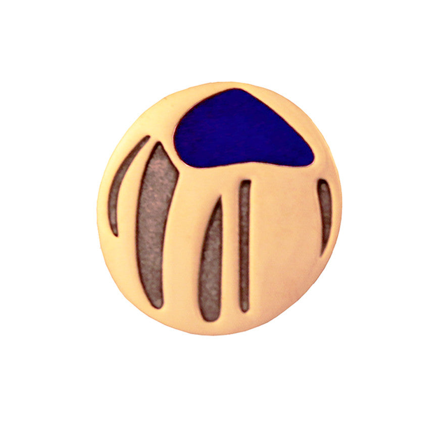 Pin badge - blue motif