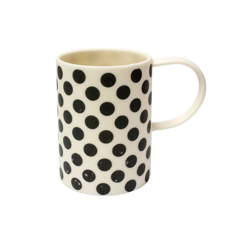Ceramic tall cup - large spots