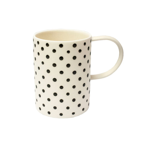 Ceramic tall cup - small dots