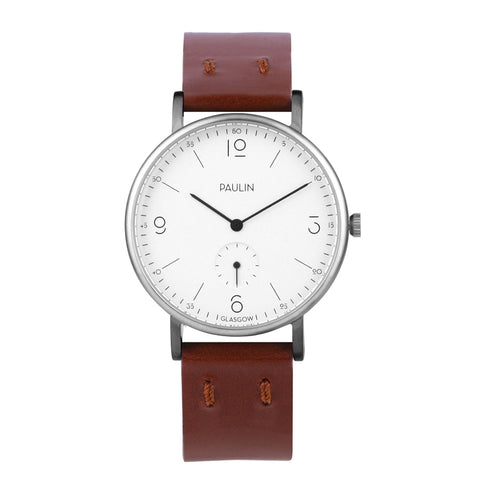 Commuter numerical watch - brown