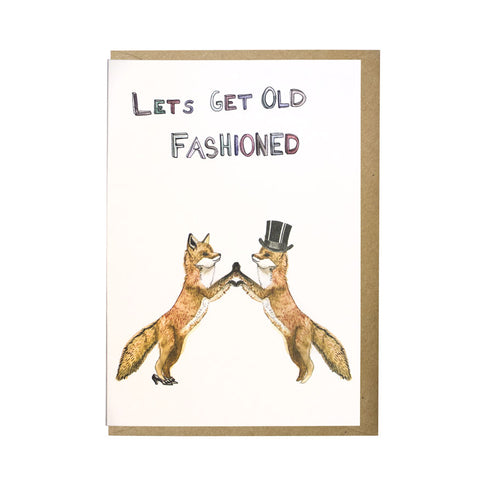 Let's get old fashioned card
