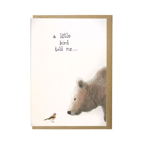A little bird card