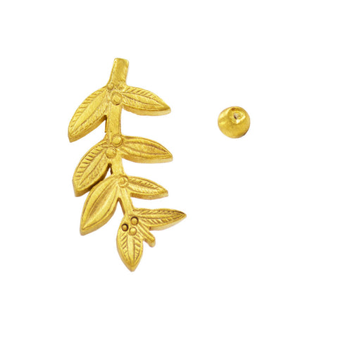 Olive branch earrings - gold