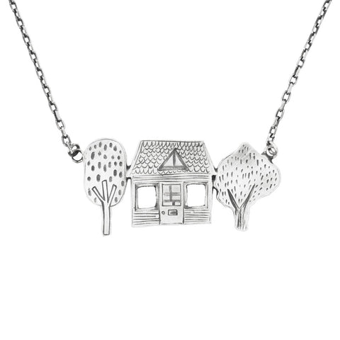 House necklace - silver