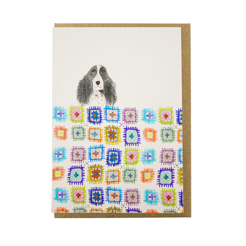 Dog crochet card