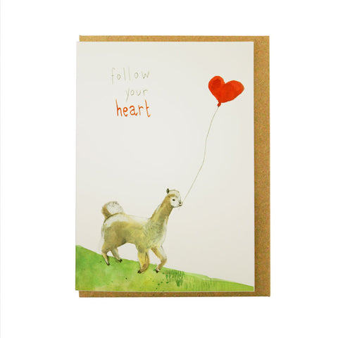 Follow your heart llama card
