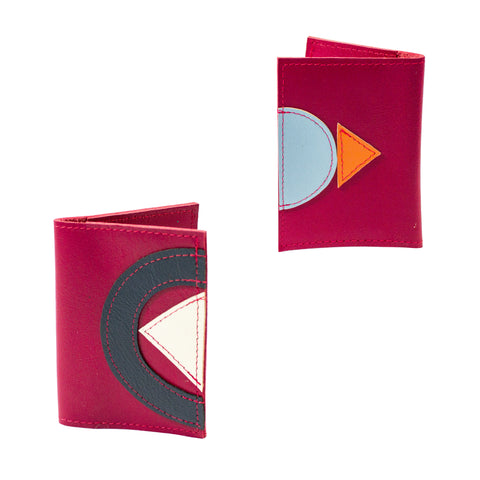 Geometric travel wallet - raspberry