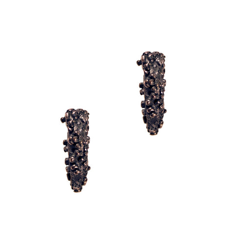 Ceres studs - oxidised silver