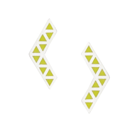Iso earrings - yellow