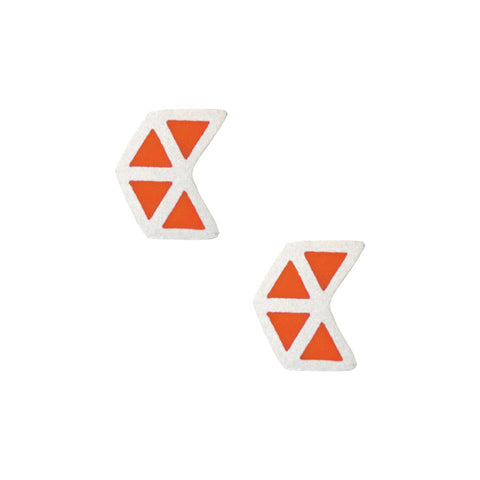 Fleche stud earrings - orange