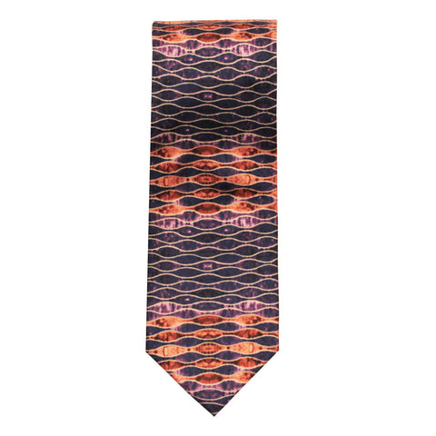 Mackintosh silk tie - wave