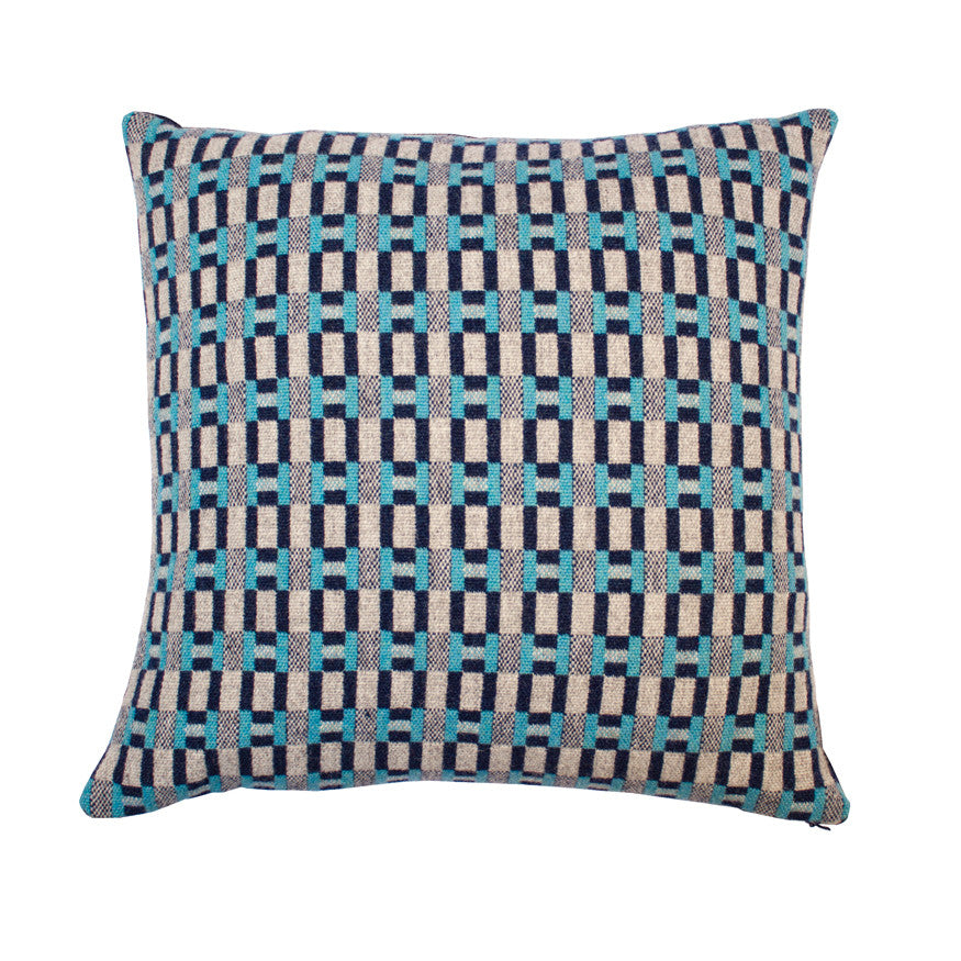 Paperchain cushion - sea