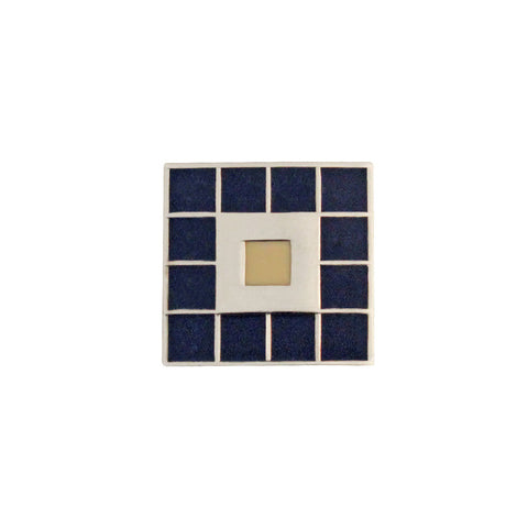 Pin badge - blue tile