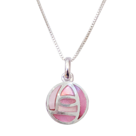 Pink Mackintosh rose necklace