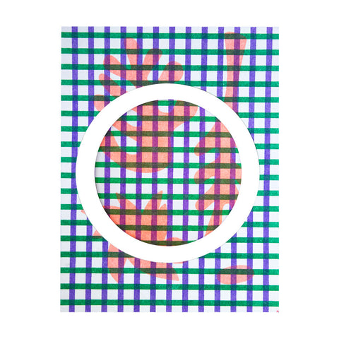 Risograph badge - grid